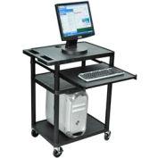 A/V Presentation Station w/ Keyboard Tray - 24x18x35-1/2