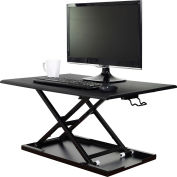 Luxor Level Up 32 Pneumatic Sit-Stand Desktop Workstation - Black