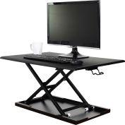 Luxor Level Up 32 Pneumatic Sit-Stand Desktop Workstation - Black