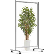 """Luxor Mobile Acrylic Room Divider - 40""""W x 72""""H - Clear"""