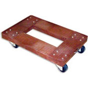 Luxor® Plastic Transport Dolly PPD200 - 24 x 16 800 Lb. Cap.