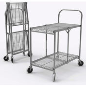 Luxor Two Shelf Collapsible Wire Cart