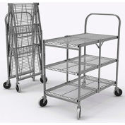Luxor Three Shelf Collapsible Wire Cart