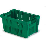 """LEWISBins Stack-N-Nest Agricultural Container AF2014-11, 20-1/2"""" x 13-11/16"""" x 10-13/16"""",  Green - Pkg Qty 6"""