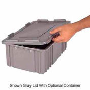 LEWISBins Heavy Duty Snap-On Cover 3000 Series CDC3040, Gray