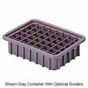 "LEWISBins Divider Box  DC1035 10-13/16"" x 8-5/16"" x 3-1/2"", Gray - Pkg Qty 16"