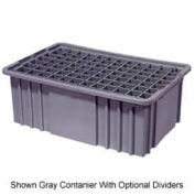 "LEWISBins Divider Box  DC2070 16-1/2"" x 10-7/8"" x 7"", Red - Pkg Qty 6"