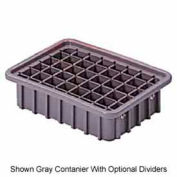 "LEWISBins Divider Box  DC3050 22-3/8"" x 17-3/8"" x 5"", Gray - Pkg Qty 4"