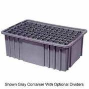 "LEWISBins Divider Box NDC2080 16-1/2"" x 10-7/8"" x 8"", Gray - Pkg Qty 6"
