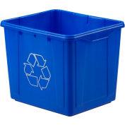 Orbis® Recycling Bin 16 Gallon Npl 263 - Blue - Pkg Qty 4