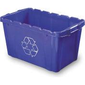 Orbis® Recycling Bin 18 Gallon Npl 265 - Blue - Pkg Qty 8