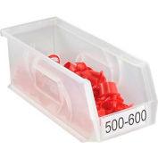 """LEWISBins Plastic Stacking Bin PB104-4CLEAR - 4-1/8""""W x 10-13/16""""D x 4""""H, Clear - Pkg Qty 12"""