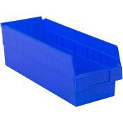 "LEWISBins Plastic Shelf Bin Nestable SB186-6 - 6-5/8""W x 17-7/8""D x 6""H, Blue - Pkg Qty 9"