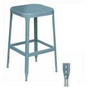 "Lyon® All-Welded Stool With Steel Seat - Steel Glide Feet 30""H Dove Gray, 2/Pk"