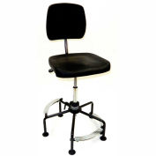 ShopSol Contoured Industrial Chair with 3-level Footrest - Steel
