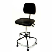 Lyon Deluxe Industrial Chair with 3-level Footrest and Extra Large Seat