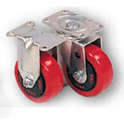 "Lyon Stationary Casters - 3-1/2"" Diameter 2-Pk"