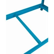 "Low Profile Front-To-Back Support, 48""D, Blue"