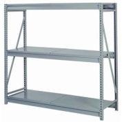 """Bulk Storage Rack Starter, 3 Tier, Solid Decking, 84""""W x 24""""D x 72""""H Blue"""