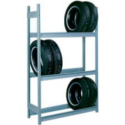"Lyon Automotive Tire Rack Add-On 4-Tier - 72""W x 18""D x 120""H, Blue"
