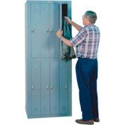Lyon Apparel Locker DD6308WC - 8 Person w/ Combination Locks - Gray