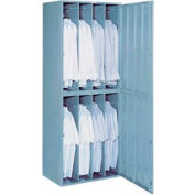 Lyon 8 Hanging Garment Widebody Locker w/ Combo Lock  DD6408WC - Gray