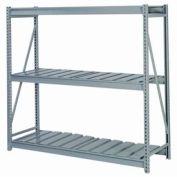 "Bulk Storage Rack Starter, 3 Tier, Ribbed Decking, 60""W x 24""D x 72""H Gray"