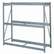 "Bulk Storage Rack Starter, 3 Tier, Without Decking, 60""W x 24""D x 84""H Gray"