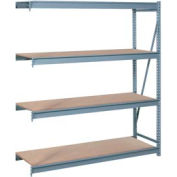 "Bulk Storage Rack Add-On, 4 Tier, Particle Board, 72""W x 24""D x 96""H Gray"