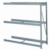 """Bulk Storage Rack Add-On, 3 Tier, Without Decking, 84""""W x 36""""D x 72""""H, Gray"""