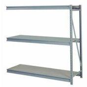 "Bulk Storage Rack Add-On, 3 Tier, Solid Decking, 84""W x 48""D x 72""H Gray"