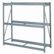 "Bulk Storage Rack Starter, 3 Tier, Without Decking, 84""W x 48""D x 84""H, Gray"