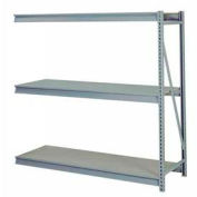"Bulk Storage Rack Add-On, 3 Tier, Particle Board, 96""W x 24""D x 72""H Gray"
