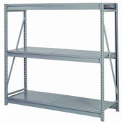 """Bulk Storage Rack Starter, 3 Tier, Solid Decking, 96""""W x 48""""D x 84""""H Gray"""