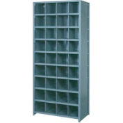 """Lyon Shelving Starter DD8101S - 36 Compartment 10 Traditional Shelves, 36""""Wx18""""Dx84""""H Gray"""