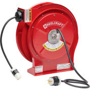 ReelCraft Cord Reel, Single Outlet, 50 ft.