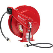 ReelCraft Cord Reel, Single Outlet, Reverse Plug