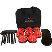 FlareAlert Standard Battery Powered LED Emergency 8 Beacon Kit, Red, B8-F-R