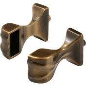 Prime-Line M 6043 Shower Door Towel Bar Bracket, Antique Brass,(Pack of 2)