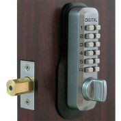 Lockey Digital Door Lock M210 Mechanical Keyless Deadbolt, Satin Chrome