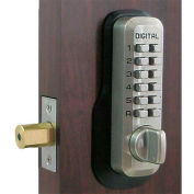 Lockey Digital Door Lock M210 Mechanical Keyless Deadbolt, Satin Nickel