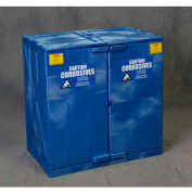 Eagle Modular Quik-Assembly Poly Acid & Corrosive Cabinet with Manual Close - 24 Gallon