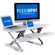 "FlexiSpot Adjustable Sit-Stand Corner Desktop Workstation with 41""W Riser Platform - White"