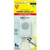 Victor Pestchaser Rodent Repellent with Nightlight & Extra Outlet, Sonic Repellent - 1/Pack - M751PS