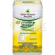 """Marcal® MRC0028, Beverage Napkins, 9-3/4""""W x 9-1/2""""D, White, 4000/Carton"""