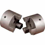 "Cast Iron Jaw Coupling Hub, Style L035, 3/8"" Bore Diameter, No Keyway"