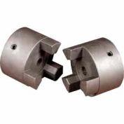 "Cast Iron Jaw Coupling Hub, Style L100, 7/8"" Bore Diameter, 3/16 x 3/32 Keyway"