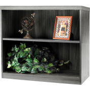 Safco® Aberdeen Series 2 Shelf Bookcase with 1 Fixed Shelf Gray Steel