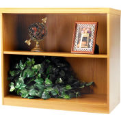 Safco® Aberdeen Series 2 Shelf Bookcase with 1 Fixed Shelf Maple
