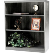 Safco® Aberdeen Series 3 Shelf Bookcase with 1 Fixed Shelf Gray Steel